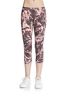 Calvin Klein Performance Ruched Tie-Dye Performance Leggings