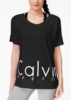 Calvin Klein Performance Short Sleeve Logo V-Neck Top