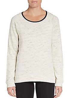Calvin Klein Performance Slub-Knit Hi-Lo Sweatshirt
