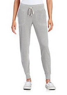 CALVIN KLEIN PERFORMANCE Striped Knit Jogger Pants