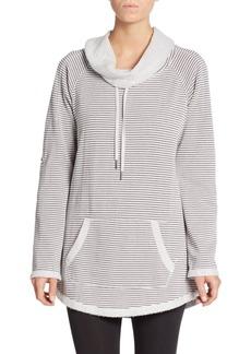 Calvin Klein Performance Striped Pullover Sweatshirt