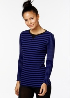 Calvin Klein Performance Striped Thermal Top
