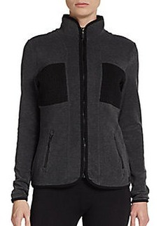 Calvin Klein Performance Textured Zip-Front Performance Jacket