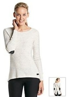 Calvin Klein Performance Thermal Top With Faux Leather Details