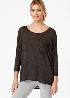 Calvin Klein Performance Three-Quarter Sleeve High-Low T-Shirt