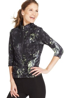 Calvin Klein Performance Three-Quarter-Sleeve Printed Jacket