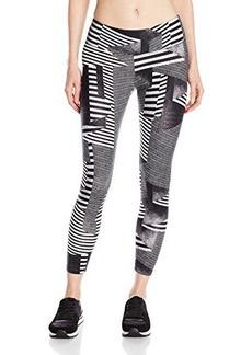 Calvin Klein Performance Women's Mid-calf Legging with Ascending Stripe Print