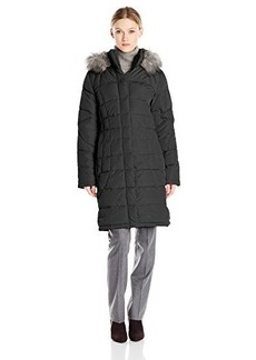 Calvin Klein Performance Women's Mid-Length Poly Filled Coat with Faux Fur Trim