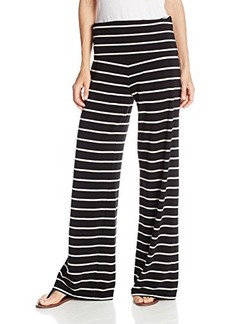 Calvin Klein Performance Women's Relaxed Wide Stripe and Wide Leg Pant