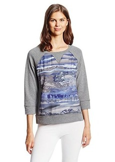 Calvin Klein Performance Women's Sporty Pullover with Marbleized Print Insert