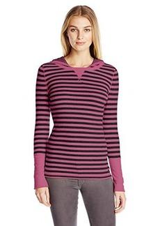 Calvin Klein Performance Women's Thermal Stripe Hooded Top