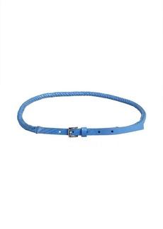 Calvin Klein periwinkle snake embossed leather braided rope belt