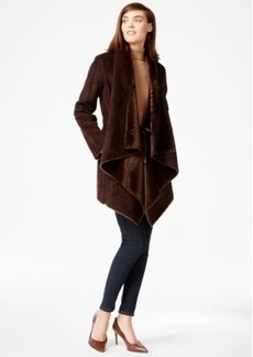Calvin Klein Draped Faux-Shearling Coat