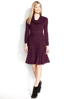 Calvin Klein Petite Dress, Long-Sleeve Knit Cowl-Neck Sweater