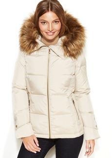 Calvin Klein Petite Faux-Fur-Trim Hooded Down Jacket