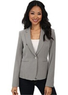 Calvin Klein Pin Stripe One-Button Jacket