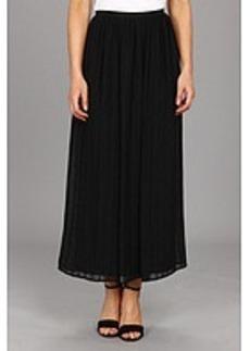 Calvin Klein Pinktuck Maxi Polyester Chiffon Skirt