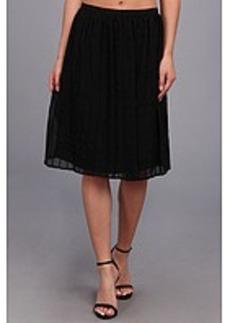 Calvin Klein Pintuck Short Polyester Chiffon Skirt