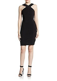 Calvin Klein Pintucked Jersey Bodycon Dress