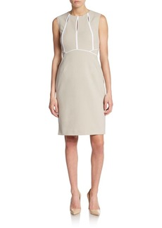 Calvin Klein Piped Keyhole Sheath Dres