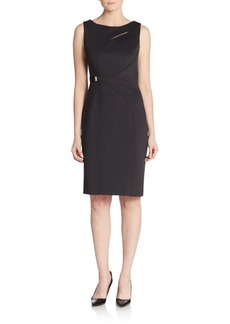 Calvin Klein Piped Keyhole Sheath Dress