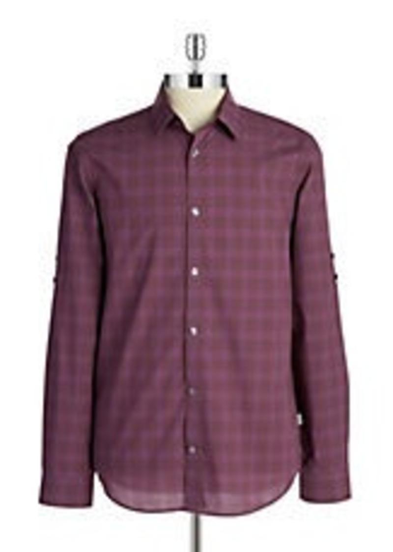 Calvin Klein Calvin Klein Plaid Sportshirt Casual Shirts