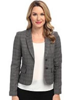 Calvin Klein Plaid Two-Button Jacket