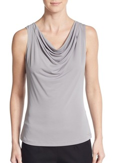 Calvin Klein Pleated Cowlneck Top