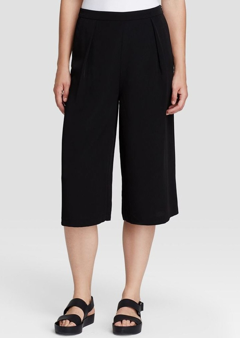 calvin klein calvin klein pleated culottes casual pants shop it to me. Black Bedroom Furniture Sets. Home Design Ideas