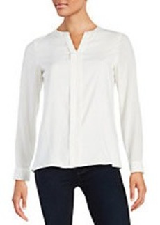 CALVIN KLEIN Pleated-Front Blouse