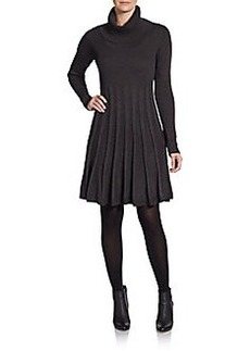 Calvin Klein Pleated Knit Sweater Dress