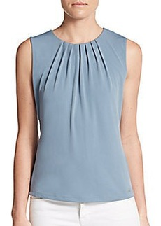 Calvin Klein Pleated Knit Top