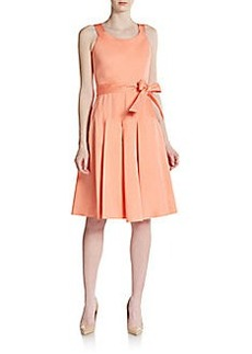 Calvin Klein Pleated Scoopneck Dress
