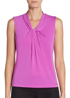 Calvin Klein Pleated Twist-Front Top