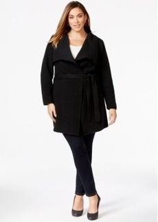 Calvin Klein Plus Size Belted Wrap Sweater-Jacket