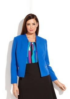 Calvin Klein Plus Size Notched Open-Front Jacket