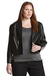 Calvin Klein Plus Size Open Faux Leather Shrug