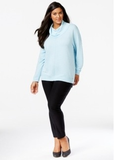Calvin Klein Plus Size Ribbed Cowlneck Sweater