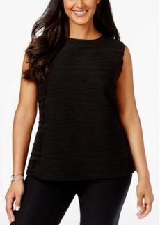 Calvin Klein Plus Size Sleeveless Ribbed Textured Top