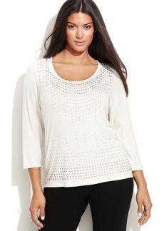 Calvin Klein Plus Size Studded Top