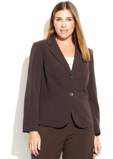 Calvin Klein Plus Size Two-Button Blazer
