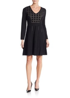 Calvin Klein Pointelle A-Line Dress