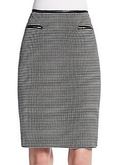 Calvin Klein Polka Dot Jacquard Pencil Skirt