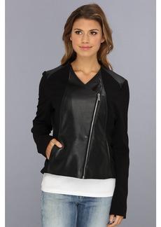 Calvin Klein Polyurethane Lux Moto Jacket