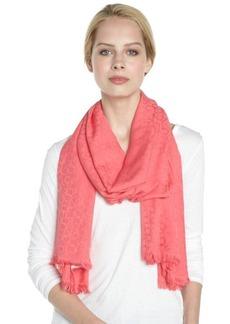 Calvin Klein pomegranate pink CK logo pattern pashmina scarf