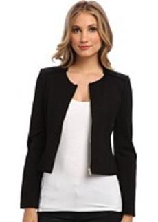 Calvin Klein Ponte Jacket w/ Zipper Closure