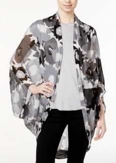 Calvin Klein Poppy Print Cocoon Wrap
