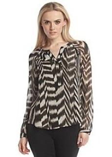 Calvin Klein Print Blouse With Piping
