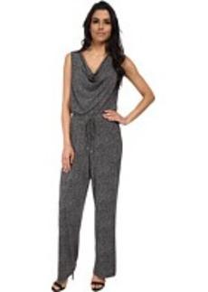 Calvin Klein Print Cowl Neck Jumpsuit