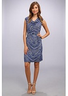 Calvin Klein Print Cowl Neck Short Dress
